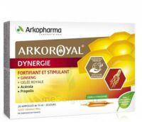 Arkoroyal Dynergie Ginseng Gelée Royale Propolis Solution Buvable 20 Ampoules/10ml à SAINT-MARTIN-DU-VAR
