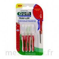 Gum Trav - Ler, 0,8 Mm, Manche Rouge , Blister 4 à SAINT-MARTIN-DU-VAR